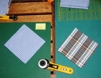 1. Patchwork-Herstellung Windrad.