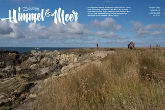 Liebesleben: Sonnenstunden an der Côte d'Amour laden zur Küstenpromenade zwischen Port Lin und Batz-sur-Mer.