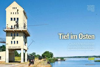 """Jotwede: Am östlichsten Rand des Oderbruchs an der Grenze zu Polen wartet der """"Kulturhafen Groß Neuendorf"""" auf Besucher."""