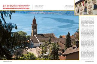 Buongiorno: Hoch über dem Künstlerdorf Ronco sopra Ascona thront erhaben die Chiesa di San Martino und morgenmüde ruht der See.