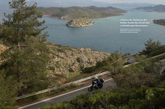 Golf-Geschichten: Steil hinab geht der Blick auf die venezianische Festung und einstige Lepra-Kolonie Spinalonga.
