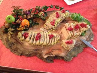 la décoration des plateaux de foies gras est de Lucienne
