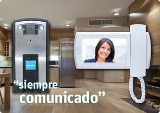 La linea más completa de servicio de interfón, videportero e intercomunicación para casa, edificio u oficina.