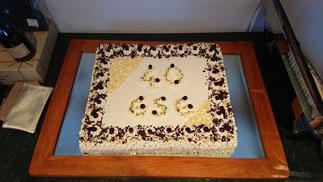 schöne, leckere Torte, gesponsert von Hotel Rainer