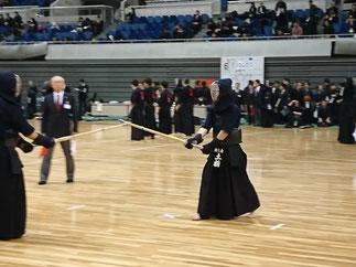 昨年に続き男子1部Aチーム先鋒を務めた若武者 土橋先輩(H29年卒)。