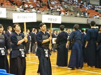 田村選手堂々の入場行進。
