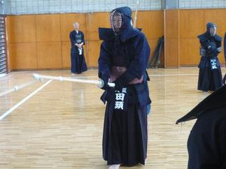 本学OB唯一の八段教士である田頭先輩も参加。