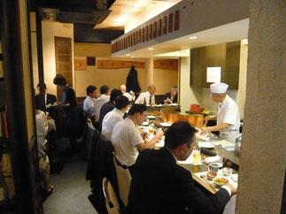 OBOG懇親会は目白駅近くの天ぷら専門店で開催