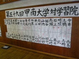 男子は5-10で学習院大学の勝利