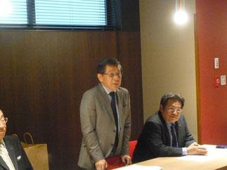西村会長の後任に指名された稲留先輩が新会長として承認された。