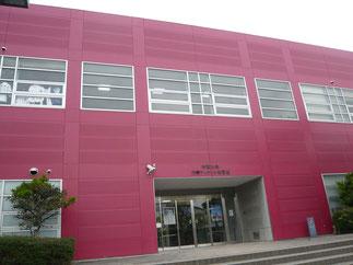 合同稽古会の会場となった六甲アイランド体育館。