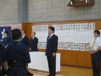 開会にあたり伊藤師範よりご挨拶をいただく。