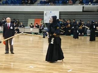 対龍谷大学戦では世界選手権準優勝者から大金星を挙げた渡邉先輩(H22年卒)。