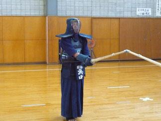 お子さんが剣道を始めたのを機に稽古再開!浜口先輩。