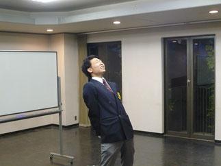 長畑京太郎 君(大学2年)によるエールで総会は幕を閉じた