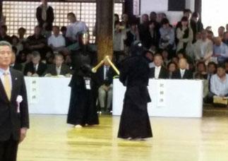 本学が誇る八段教士 田頭啓史 先輩(写真提供:吉田大樹 先輩)
