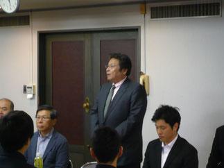 新副会長に推薦された安井洋一 先輩