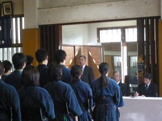学習院剣桜会 羽田野会長による大会会長挨拶