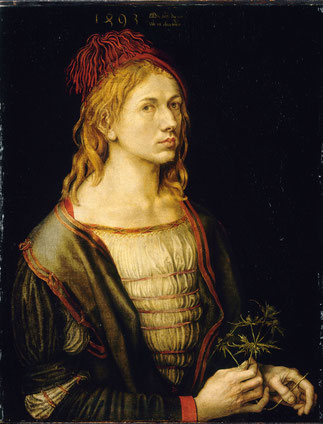 Selbstbildnis, Albrecht Dürer, 1493, Tafelgemälde, Musée du Louvre, Paris