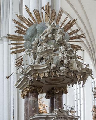 Kanzel der St. Marienkirche in Berlin, Detail