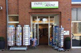 Geschäft Außenansicht Papierhaus Radünz