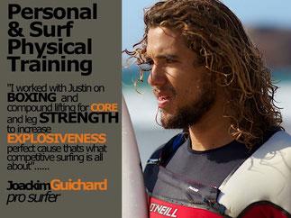 Joackim Guichard surfer training