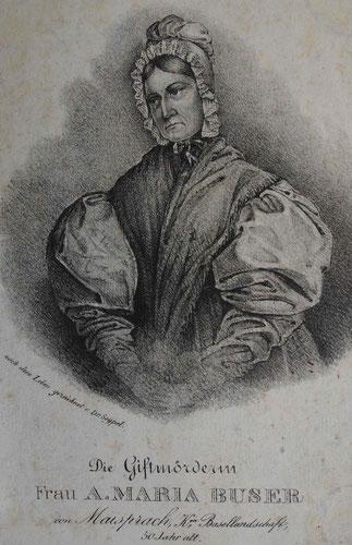 Die Müllerin vergiftete ihren Mann und wurde 1840 hingerichtet.