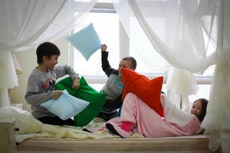 Аниматоры на пижамную вечеринку в Зеленограде, Химках, Лобне, Истре, Красногорске, Солнечногорске