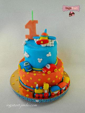 торт малышам мальчику на годик