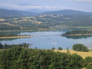 Histoire d'eau et de train Chalabre Montbel Randonnee Pyrenees audoises Ariege