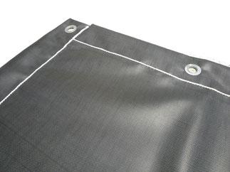 Bache enduite de silicone résistant à la chaleur pour enrobé