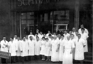 dudweiler, saarbruecken, metzgerei, schwamm, 1937