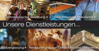 Restaurierung Rahmen und Gemälde Gregor Eder Wien