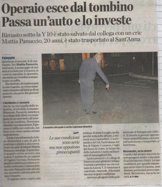 La Provincia di Como - 13/12/2013