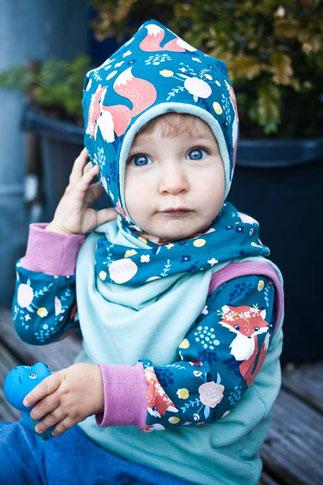 Lybstes Herbst-Set: Hoodie und Shirt für das perfekte Herbstoutfit für Kinder, Fuchsstoff
