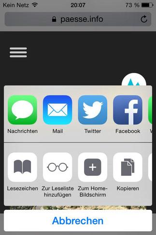 Screenshot 3 Pässe.Info-Web-App für iPhone