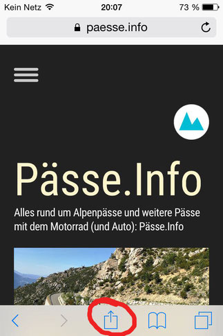 Screenshot 2 Pässe.Info-Web-App für iPhone