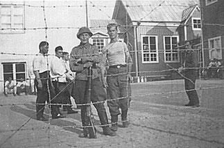 1942. Финский лагерь военнопленных в г. Коккола в Западной Финляндии.