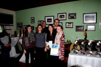 v.l.: Lena Kluthe, Charlotte Heib, Alena Niesen, Franziska Brülls (Damen)