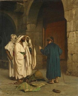 """""""VIEUX MARCHAND JUIF ET ARABES"""" Avant 1883. J.L.GERÔME (1824-1904) Amsterdam Stedelijk Museum"""