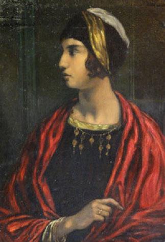 ANDRE MAIRE. FIN 1921. PORTRAIT DE SA FIANCEE IRENE BERNARD QU'IL EPOUSERA EN OCTOBRE 1922.
