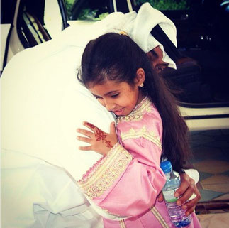 Le Prince avec sa nièce Fatima bint Abdullah