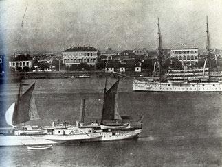 Shanghai Bund, XIXème siècle.