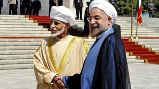 30 Août 2013. Sa Majesté Qaboos et le Président Hassan Rouhani.