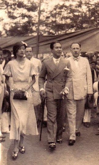 Vers 1935.L'Empereur Bao Dai et la future Impératrice Nam Phuong.