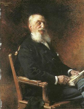 LE COMTE LOUIS RAPHAËL CAHEN D'ANVERS (1837-1922) peint par LEON B0NNAT (1833-1922)