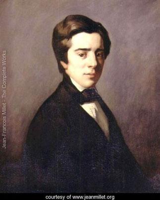 J.F.Millet.Huile sur toile 23,88/28,88 inches : Félix Bienaimé Feuardent(1819-1907)                                          Fine Arts Museum of Boston .