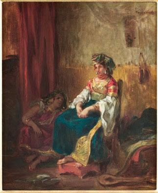 MARIEE JUIVE au MAROC. 1852. Eugène DELACROIX (1798-1863).  Collection Famille LEFRAK