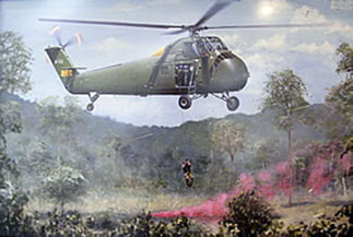 Air America UH-34Ds :mission SAR pilote abattu.  C*ALLEN GATES  A.A