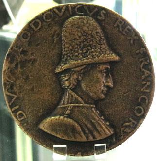 MEDAILLE à L'EFFIGIE DE LOUIS XI. par Francesco LAURANA BnF  Cabinet des Médailles